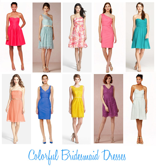 Availendar: Colorful Bridesmaid Dresses