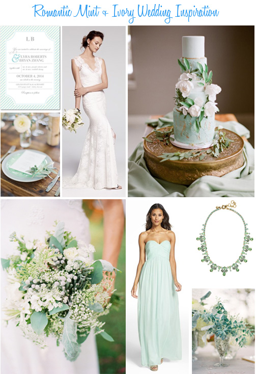 Availendar: Romantic Mint + Ivory Wedding Inspiration