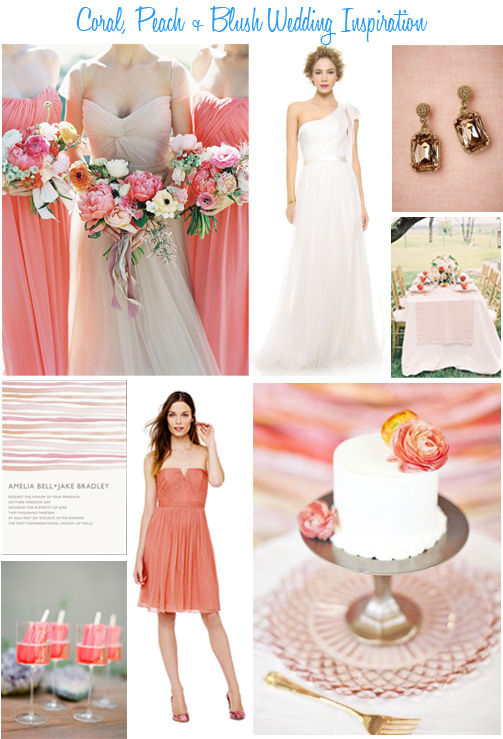 Coral, Peach + Blush Wedding Inspiration