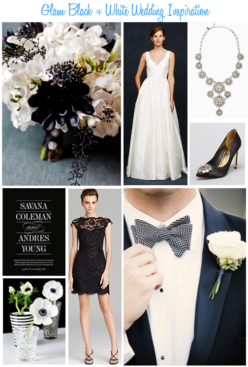 Availendar: Glam Black + White Wedding Inspiration