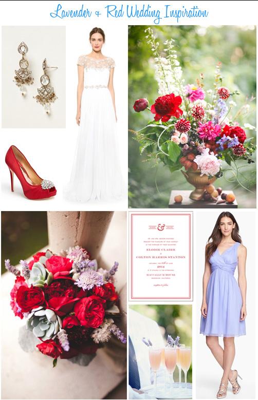 Availendar: Lavender + Red Wedding Inspiration