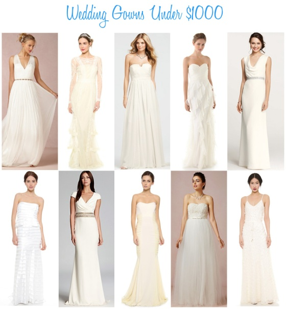 Availendar: Wedding Gowns Under $1000