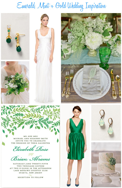 Availendar: Emerald, Mint + Gold Wedding Inspiration