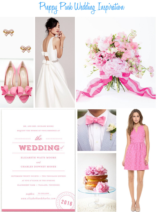 Availendar: Preppy Pink Wedding Inspiration