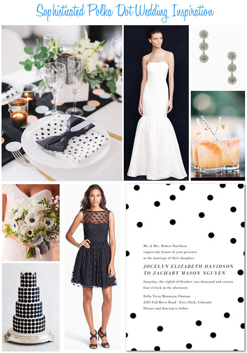 Availendar: Sophisticated Polka Dot Wedding Inspiration