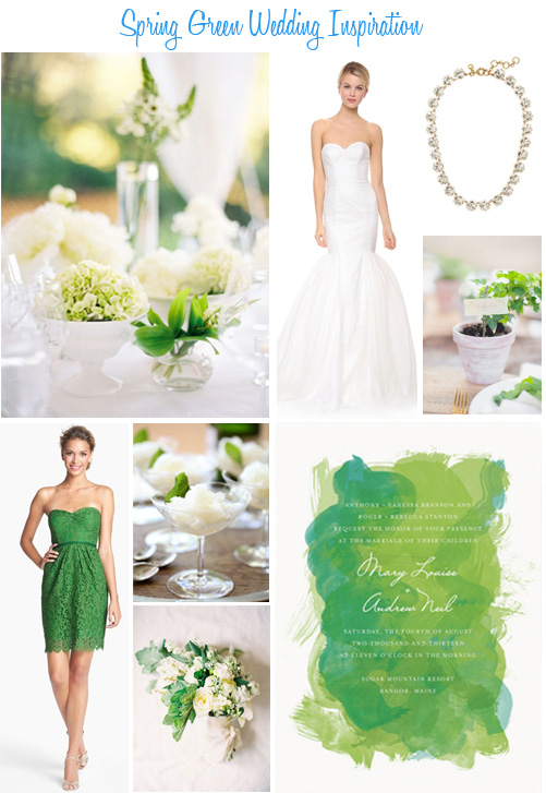 Availendar: Spring Green Wedding Inspiration