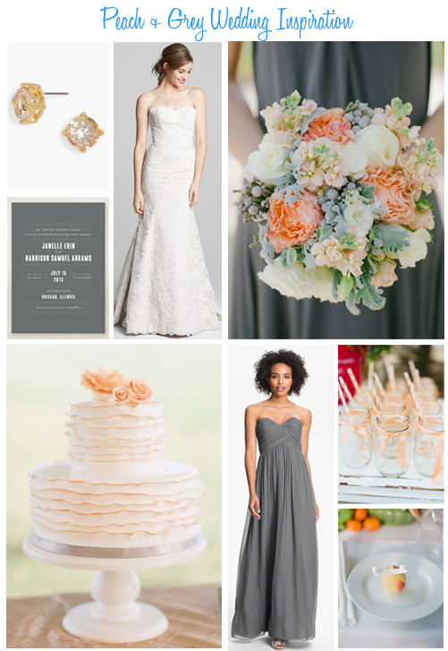 Availendar: Peach + Grey Wedding Inspiration